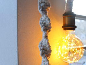 """Macramé hanglamp """"Cloud"""""""